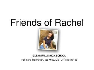 Friends of Rachel