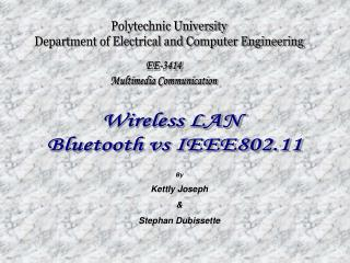 Polytechnic University Department of Electrical and Computer Engineering