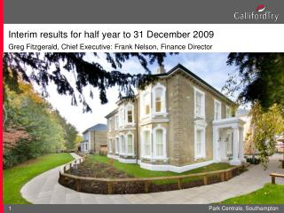 Interim results for half year to 31 December 2009