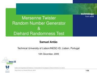 Mersenne Twister Random Number Generator & Diehard Randomness Test