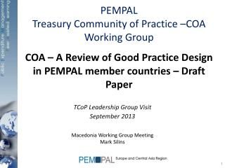 COA – A Review of Good Practice Design in PEMPAL member countries – Draft Paper