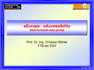 eEurope - eAccessibility eGovernment ante portas
