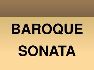 BAROQUE SONATA