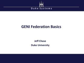 GENI Federation Basics