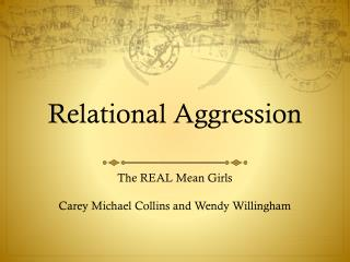 Relational Aggression