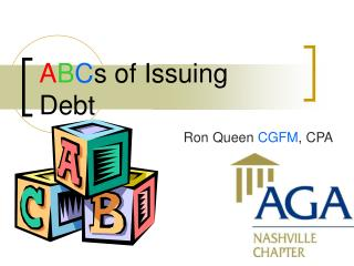 A B C s of Issuing Debt