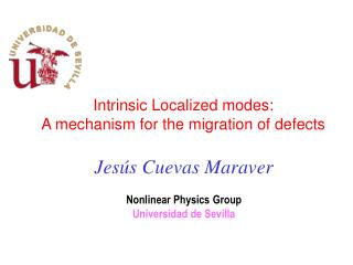 Intrinsic Localized modes: A mechanism for the migration of defects