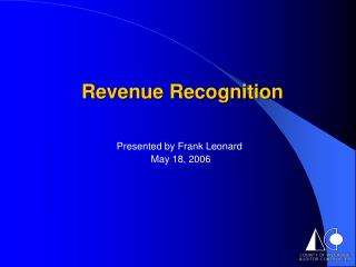 Presented by Frank Leonard  May 18, 2006