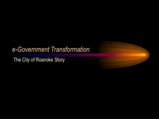 e-Government Transformation