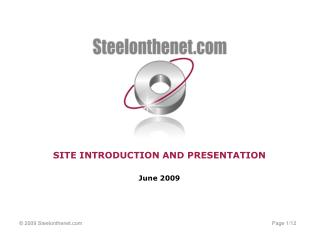 SITE INTRODUCTION AND PRESENTATION