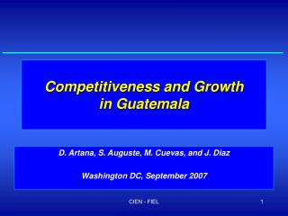 Competitiveness and Growth in Guatemala