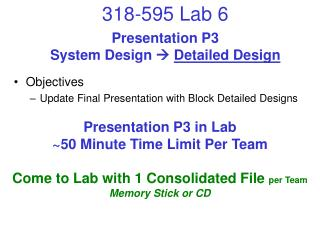 Presentation P3 System Design   Detailed Design