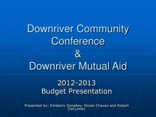 Downriver Community Conference &  Downriver Mutual Aid