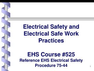 Why Electrical Training?