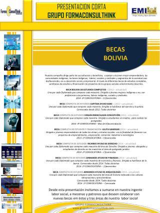 BECAS BOLIVIA