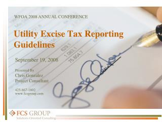 Utility Excise Tax Reporting Guidelines