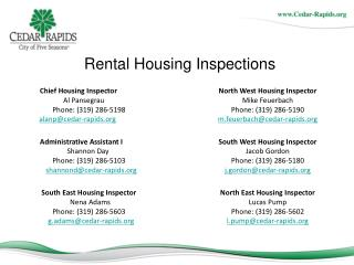 Rental Housing Inspections