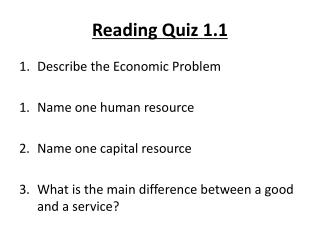 Reading Quiz 1.1