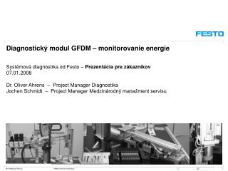 Diagnostický modul GFDM – monitorovanie energie