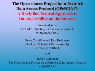 The Open source Project for a Network