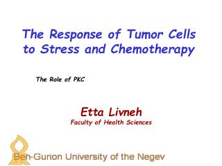 The Response of Tumor Cells to Stress and Chemotherapy