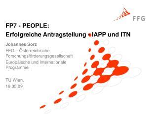 Johannes Sorz FFG – Österreichische Forschungsförderungsgesellschaft