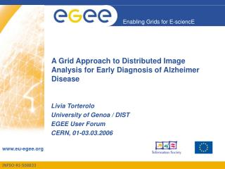 A Grid Approach to Distributed Image Analysis for Early Diagnosis of Alzheimer Disease