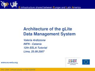 Architecture of the gLite  Data Management System