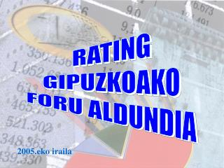 RATING GIPUZKOAKO FORU ALDUNDIA