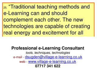 m-Technology  to  support  learning  and  teaching : The possibilities