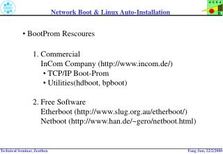 Network Boot & Linux Auto-Installation