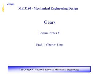ME 3180 - Mechanical Engineering Design