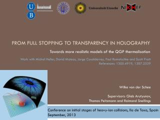 From Full Stopping To Transparency In holography