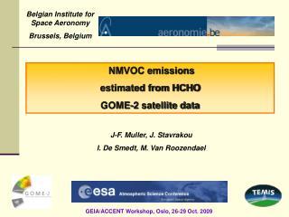 NMVOC emissions  estimated from HCHO GOME-2 satellite data