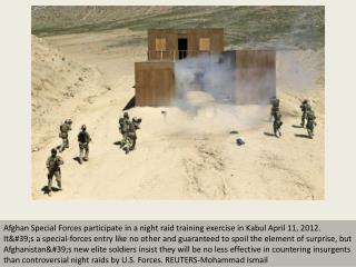 Afghanistan's Special Forces