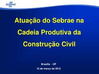 Atua��o do  Sebrae na Cadeia Produtiva da Constru��o Civil