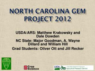 North Carolina GEM Project 2012
