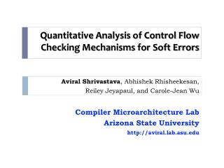 Quantitative Analysis of Control Flow Checking Mechanisms for Soft Errors