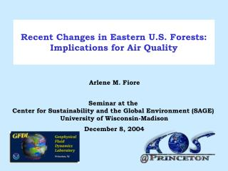 Recent Changes in Eastern U.S. Forests: Implications for Air Quality