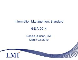 Information Management Standard GEIA-0014