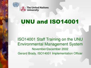 UNU and ISO14001