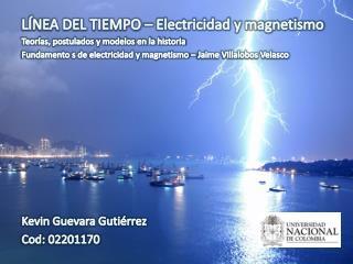 LÍNEA DEL TIEMPO –  Electricidad y magnetismo  Teorías, postulados y modelos en la  historia