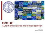 PSYCH 221 Automatic License Plate Recognition