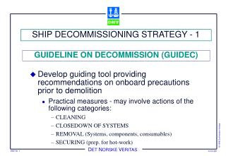 SHIP DECOMMISSIONING STRATEGY - 1