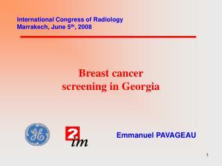 Breast cancer screening in Georgia
