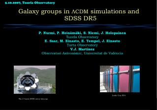 Galaxy groups in  ?CDM  simulations and SDSS DR5