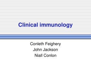 Clinical immunology