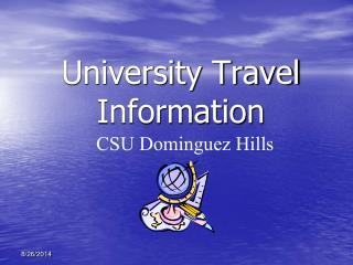 University Travel Information
