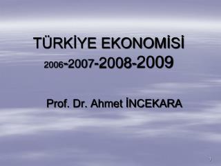 TÜRKİYE EKONOMİSİ  2006 - 2007 -2008- 2009