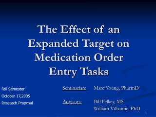 The Effect of an Expanded Target on Medication Order Entry Tasks